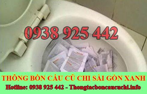 Thông bồn cầu bị nghẹt giấy Biên Hòa Đồng Nai 0938778923
