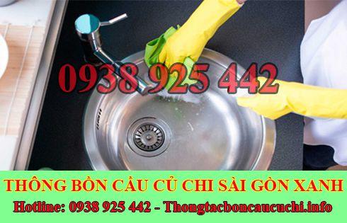 Thông tắc bồn chậu rửa chén bát Biên Hòa Đồng Nai